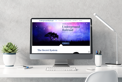 Jackson Michigan Underground Railroad website mockup by The Marketing Machine Co.