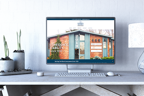 The Dobben Agency Jackson MI website design mockup by The Marketing Machine Co. Jackson MI
