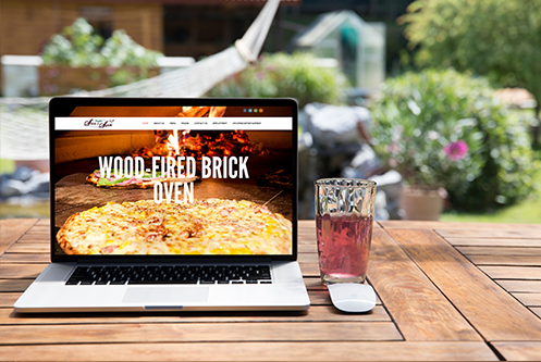 Slice of Spice Spring Arbor MI website design mockup by The Marketing Machine Co. Jackson MI