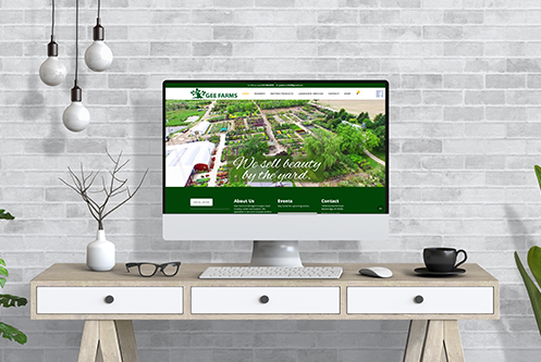 Gee Farms Stockbridge MI website mockup by The Marketing Machine Co. Jackson MI