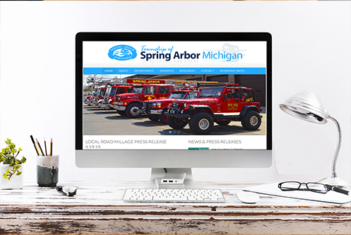 Spring Arbor Township MI website mockup by The Marketing Machine Co. Jackson MI